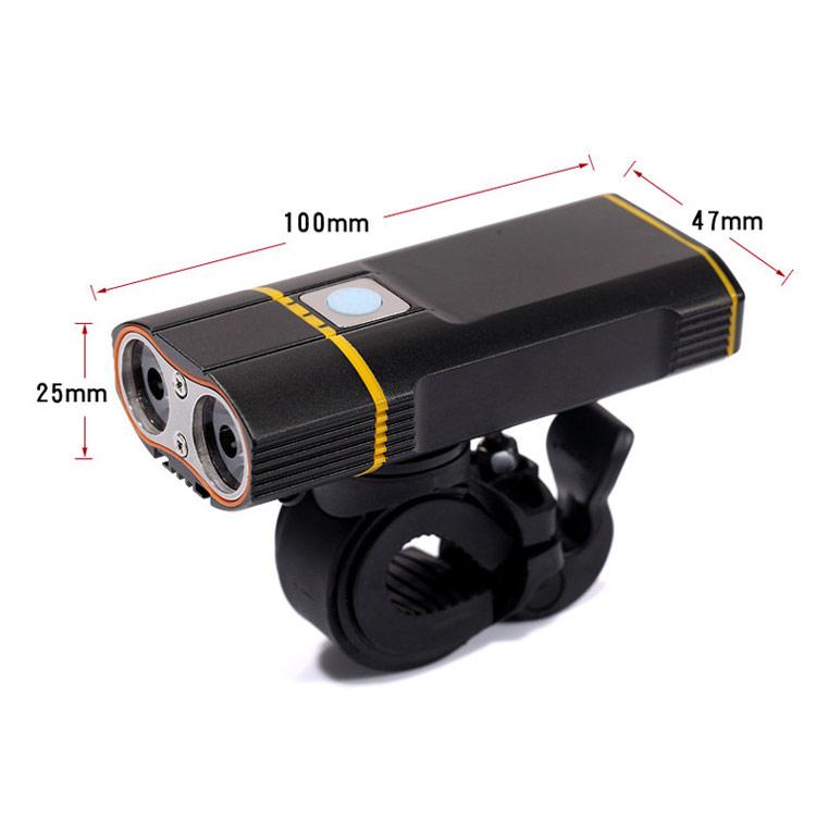 USB bike light dimensions