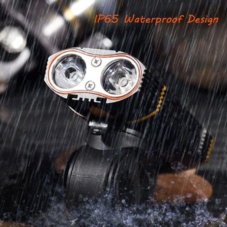 waterproof usb rechargeable bike front light