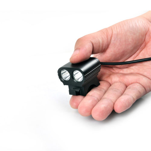 Finger size mountain bike headlight