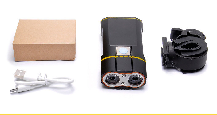 USB Rechargeable Bike Front Light Set