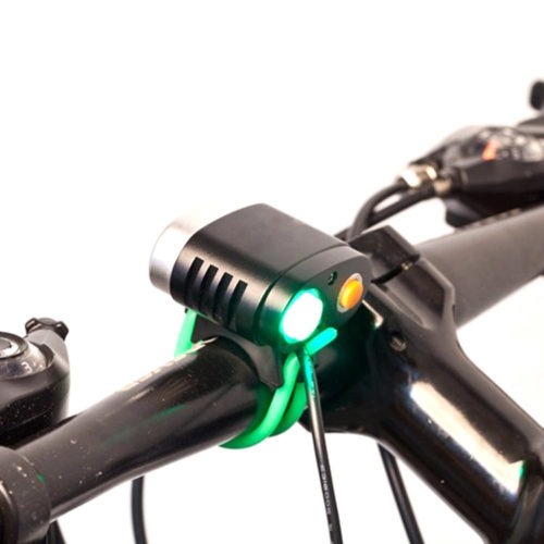 rechargeable bike front light with power indicator