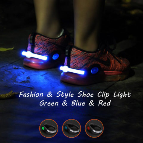 running shoe lights usb rechargeable clip lights for runners