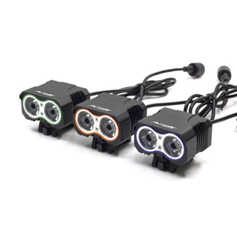 colorful mountain bike headlights