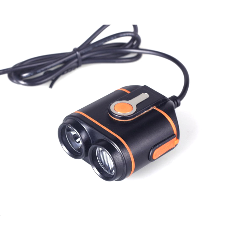 2000lm powerful LED mountain bike lights with power bank function