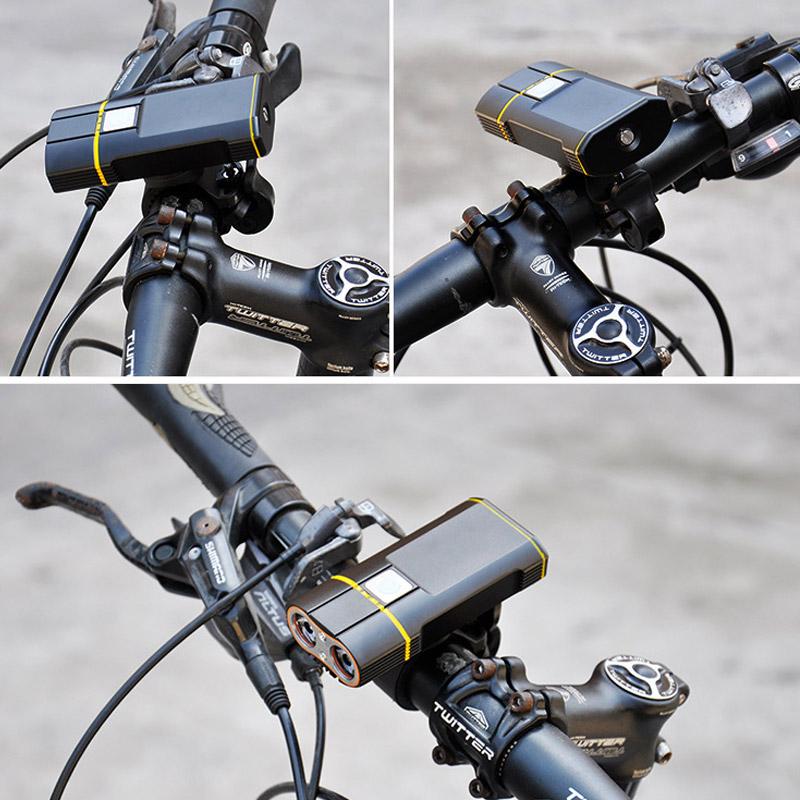 Bike Handlebar Mounted USB Front Bike Light