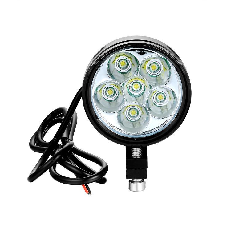 Universal Motorcycle Headlight 6000lm Cree T6 LED Bar Mounted Headlights
