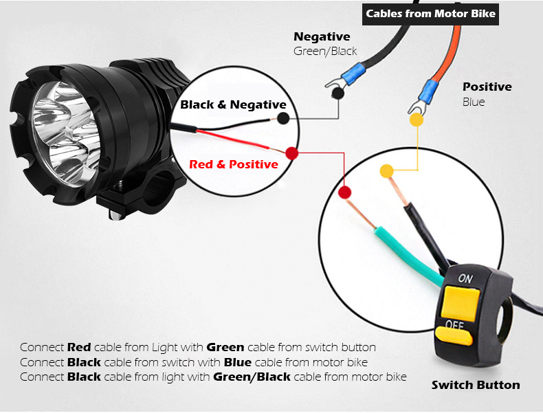 wiring instruction for motorcycle led driving lights