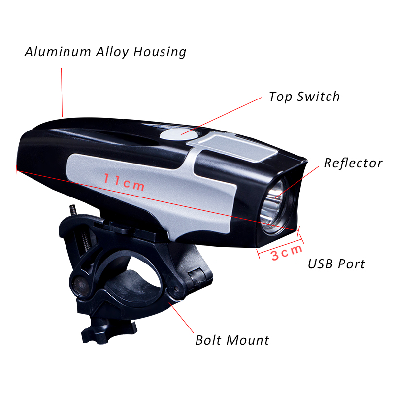 Details on USB Rechargeable Bicycle Lights