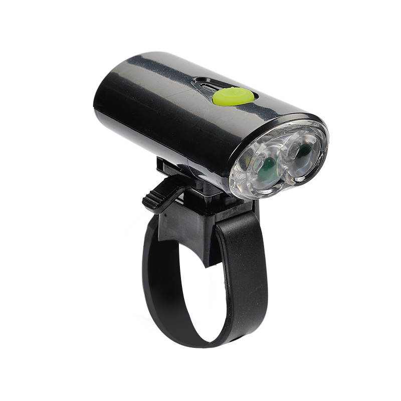 USB Bicycle Headlight with Rubber Mount