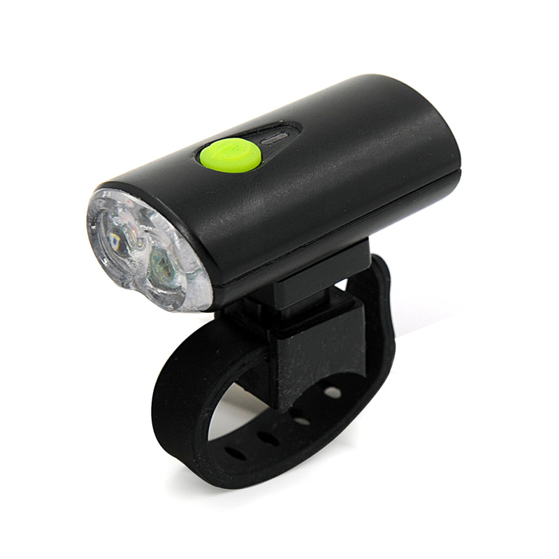 USB Bicycle Headlight With 2pcs LED & Clip-on Bracket ...
