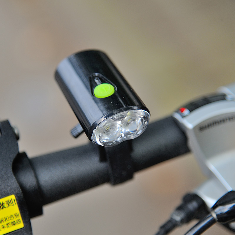 Usb Bicycle Headlight With 2pcs Led Clip On Bracket Prolites